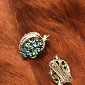 Vintage Gold and Rhinestone Earrings